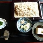 15513883 - せいろ蕎麦と蕎麦豆腐
