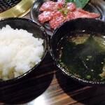 しげ吉 - ご飯とスープ