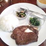 ディーディー - 北海道産ビーフ粗挽きペッパーステーキ ガーリック醤油