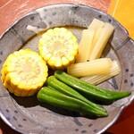 柚木元 - 夏野菜の浅漬け