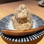 炭火串焼ヒヨク之トリ - お通し(ポテトサラダ)