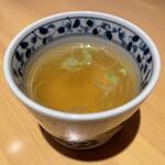 炭火串焼ヒヨク之トリ - 鶏スープ¥200