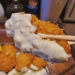 福岡焼き鳥 鮮笑 - 牡蠣の旨みをタルタルソースが引き立ててとても美味しかったです