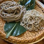 155150338 - 味くらべ3種(田舎二八細麺・がんこ太麺)