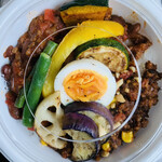 カフェ スタンド - 料理写真:チリコンカン&キーマカレー