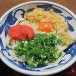 讃松庵 - めんたい釜玉 麺半分