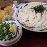 讃松庵 - 天ざる 麺半分