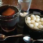 しまばら水屋敷 - 料理写真:かんざらしと冷コーヒー 880円