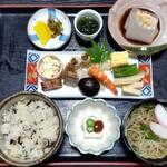古処庵 - 料理写真:山菜おこわ定食。