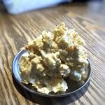 焼売酒場 いしい - ◆ポテサラ(429円)・・刻んだ沢庵が混ぜられていて食感も楽しめますし、ポテサラ自体のお味も好み。