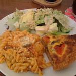 カフェロッタ - ナスとトマトのキッシュプレート