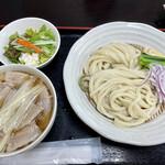 篁園 - 肉汁うどん(並)