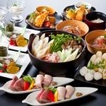 あきた美彩館 - 料理写真:『美の国あきたまるごとコース』比内地鶏スープを使ったきりたんぽ鍋付の大人気コース4,630円