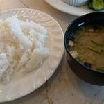 レストラン コロナ - ご飯、味噌汁
