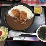定食屋さん千 - からあげカレー 1000円 + ライス大盛 100円