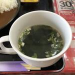 定食屋さん千 - からあげカレーのわかめスープ