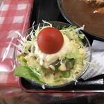 定食屋さん千 - からあげカレーのサラダ