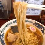 清見そば本店 - 極細ストレート麺