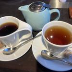 ラ・オハナ - 100%コナコーヒー780円、ポットティー アールグレイ430円