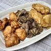 かしわ つるや - 料理写真:唐揚げ&ズリの竜田揚げ&鶏天