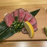 牛串酒場 ごり串 - 牛タタキ。