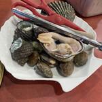 萩の茶屋 - 焼き貝のセット