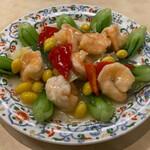155251166 - エビとミニ青梗菜の塩炒め