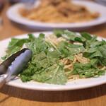 Laugh - メカジキとルーコラのスパゲティ 燻製リコッタチーズ