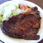 15528859 - 和風ステーキ定食。圧巻のお肉、お味もgood。