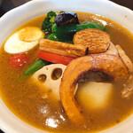 五○堂 - 野菜具沢山のチキン野菜カリー