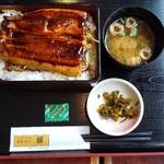 155295893 - うな丼と苺スムージーセット¥1034