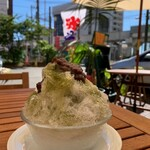 bar soundmarket - 自家製抹茶シロップのかき氷