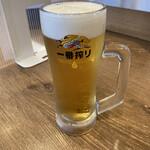 磯丸水産 - 生ビール(中)