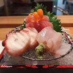 和海味処 いっぷく - 蛸、メジ鮪 中トロ、鮃の造り