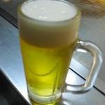 駒川ホルモン - 取り合えず、ビール!