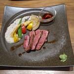 鉄板dining香音 - 土佐あかうしモモステーキ