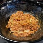 麺屋永吉 花鳥風月 - 追い飯、混ぜました。