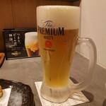 こさえ - キンキンに冷えて美味しいビール(*´∀`)♪