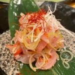 地魚回転寿司 丸藤 - 鯛の利休和え