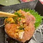 地魚回転寿司 丸藤 - 鯵のなめろう