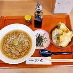 日本そば 蕎乃道 - 料理写真:天丼ランチ(冷し蕎麦)