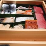 sushikoshikawa - その日使う食材を見せてくれます。
