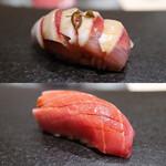 sushikoshikawa - イワシ、中トロ