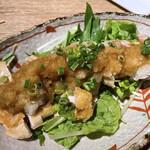 焼き鳥 きんざん - もも肉のたたきポン酢
