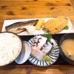 タカマル鮮魚店 - ランチセット 1100円