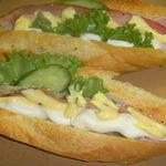 パン工房 クランベリー - ベーコンとスパイシーチーズのカスクルート