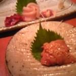 Jidorisumiyakibansan - 造り3種と白肝