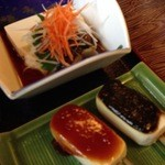 15535380 - 山菜豆腐と豆腐田楽