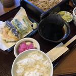 鹿林 - 料理写真:そば定食A 880円