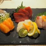 鮨 仙酢 - 造り五種盛り